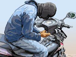 Bawa Motor Yang Bukan Miliknya, Pria Ini Dibekuk Di Mapolsek Teluk Pandan